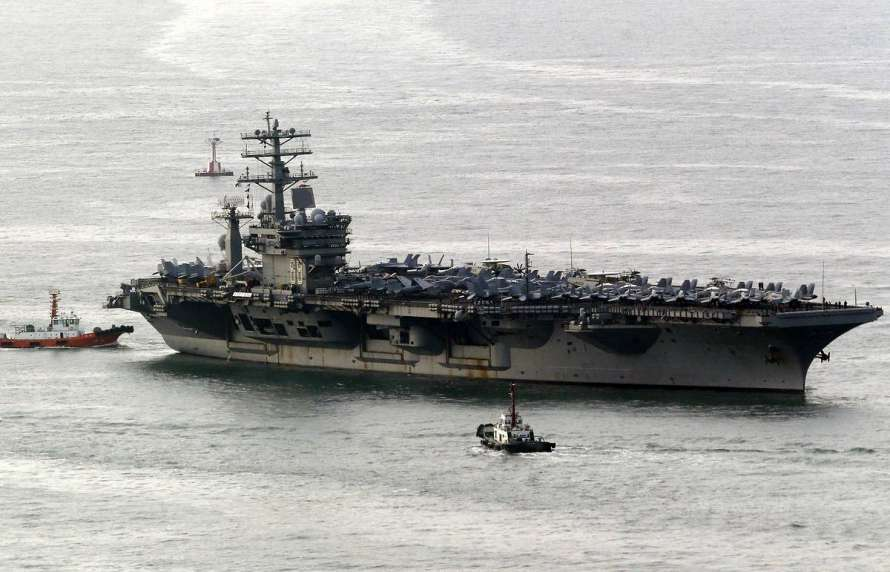 Американские спутники обнаружили уберегов Ирана прототип  атомного авианосца ВМС США