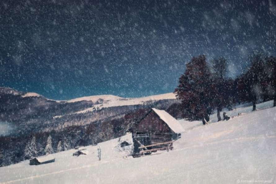 Снігопад в Карпатах