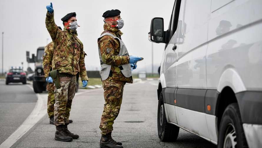 В Италии задействовали армию для обеспечения карантина в очагах коронавируса